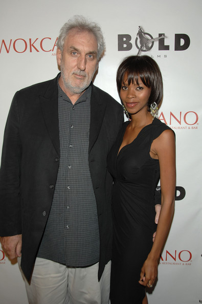 Director Phillip Noyce (L) and wife Vuyo Dyasi