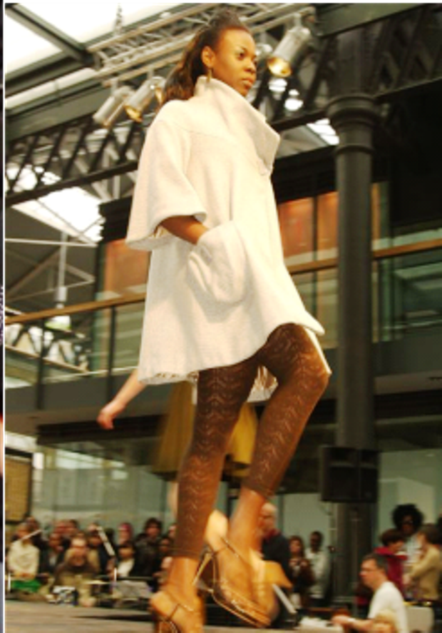 Omo on the runway of London Fashion Week