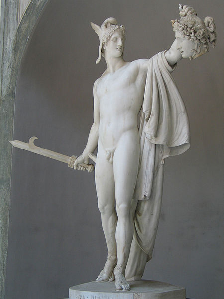 Perseus with the head of the gorgon Medusa, by Antonio Canova, completed 1801 in the Vatican Museums