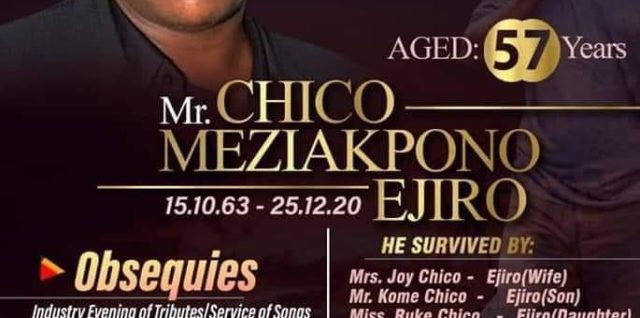 NOLLYWOOD MOST PROLIFIC DIRECTOR CHICO EJIRO BURIED TODAY